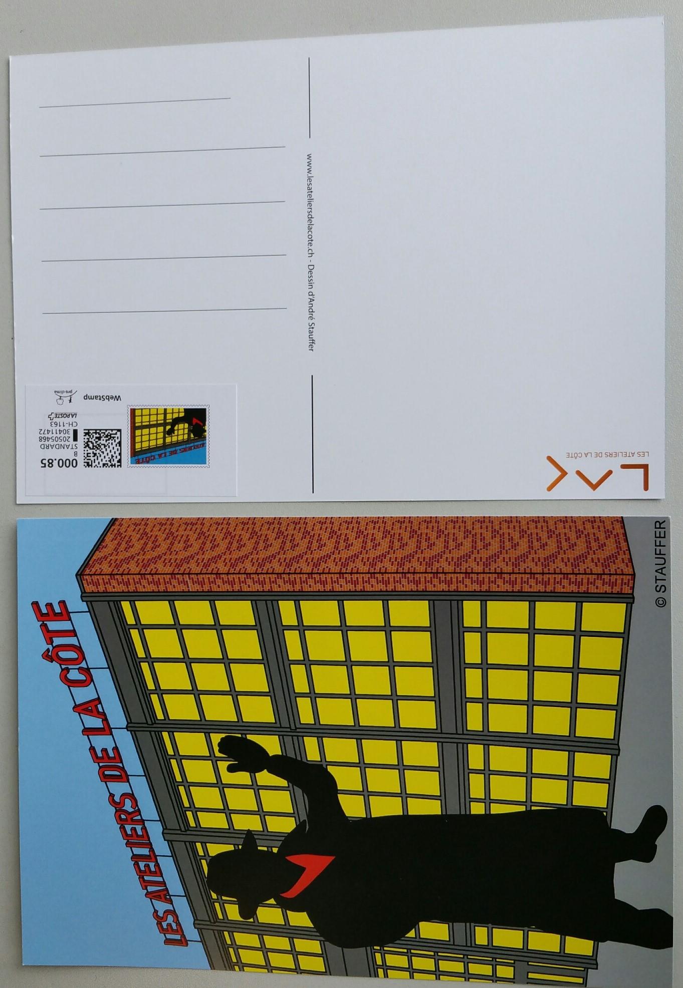 Carte Postale Affranchie Style BD Souvenir Du LAC