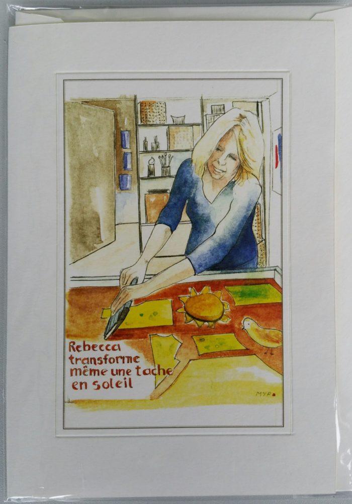 carte livret aquarelle souvenir