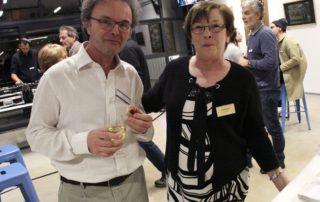 François Thury et Claudine Rochat lors de l'inauguration du LAC