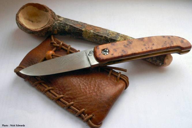 Couteaux de Stéphane ANken, réalisés dans sa forge