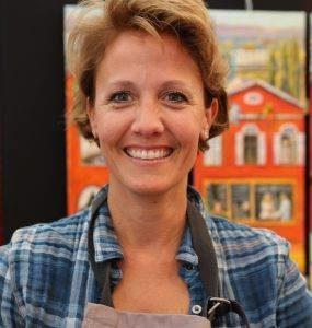 Rita Mancesti artiste peintre aux Ateliers de la Côte. Parking gratuit, à 8 minutes des axes autoroutiers ou 5 minutes à pieds de la gare