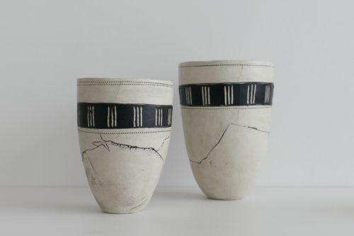 Vases créés par Jenny Andrews des Ateliers de la Côte à Etoy