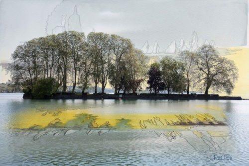 Une rêverie est un photo montage de José Gaggio de Fotozé, Ami du LAC