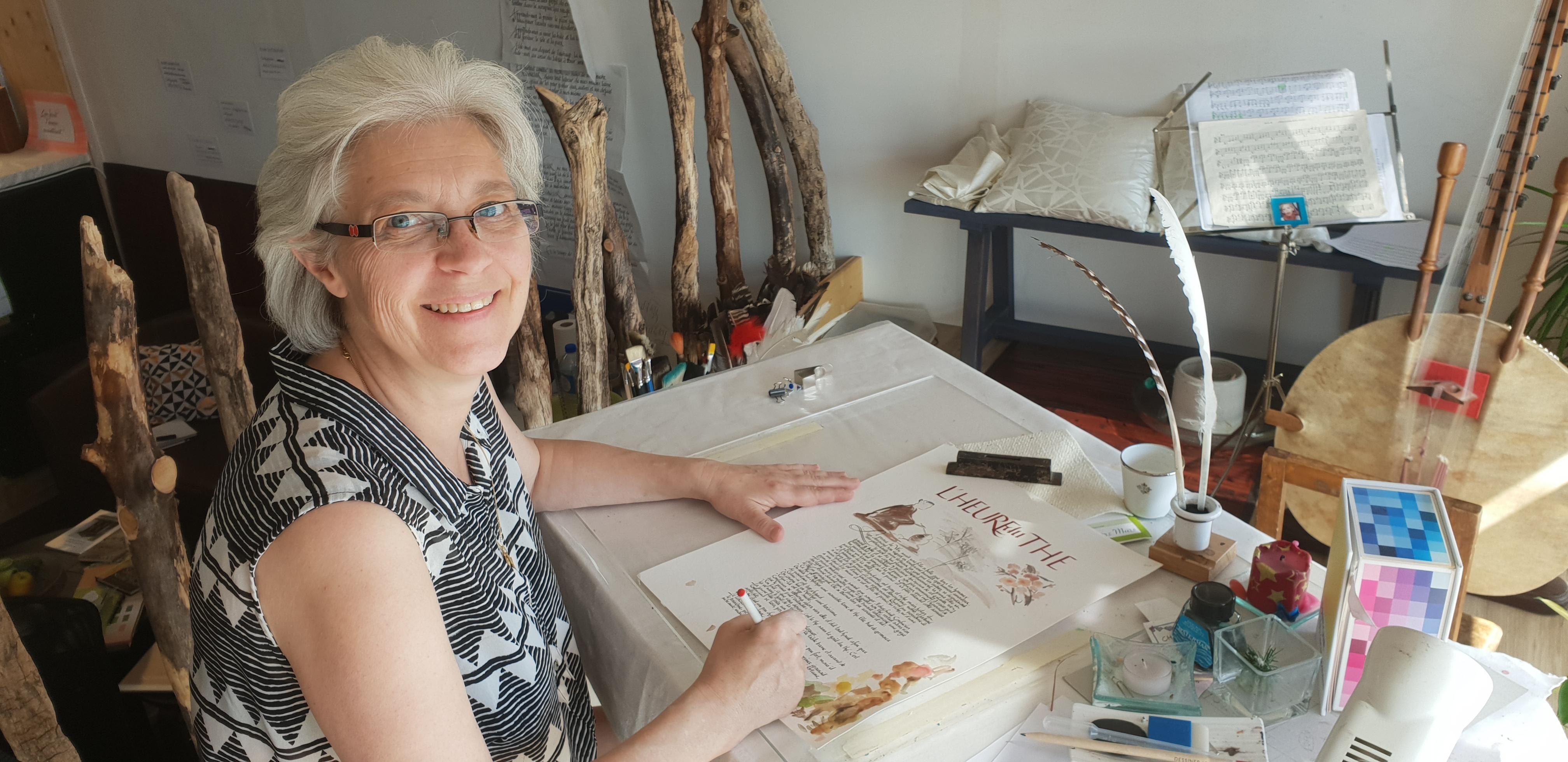 Katia W.Cantin, calligraphe