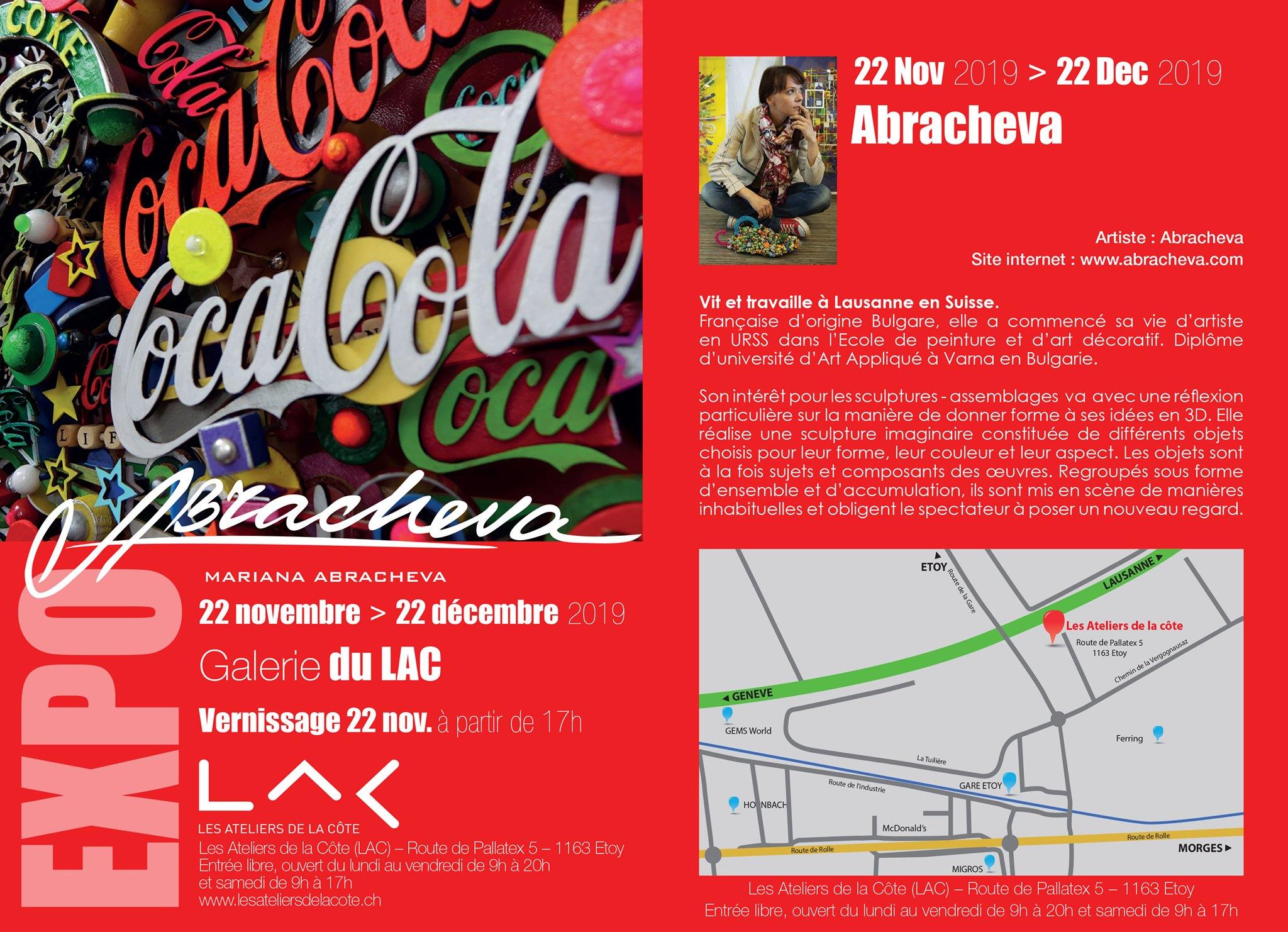 Exposition de Mariana Abracheva aux Ateliers de la Côte à Etoy