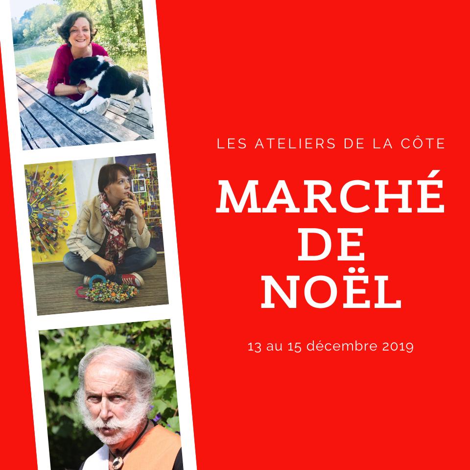 marché de Noël aux Ateliers de la Côte à Etoy. Dédicaces de livres