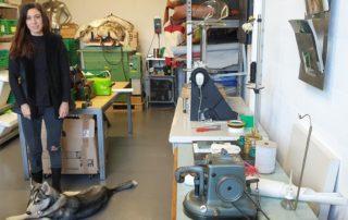 Stéphanie Gedda dans son atelier à Etoy