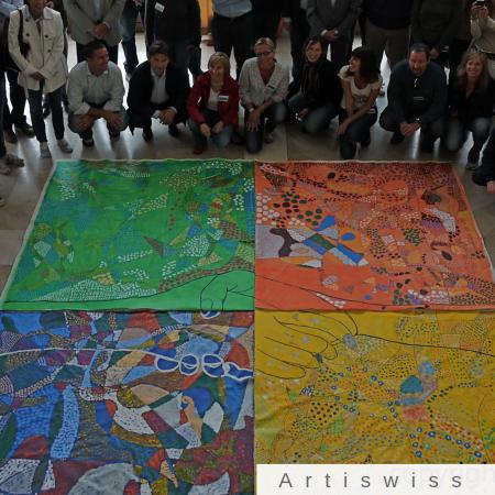 Team building sur le thème de la peinture aux Ateliers de la Côte à Etoy avec Artiswiss